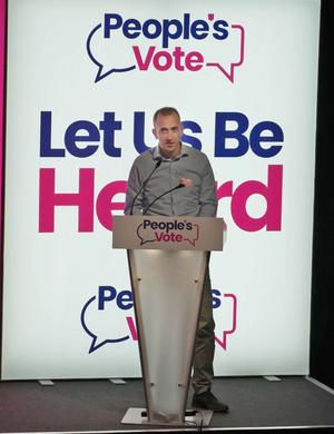 Aidan King Speaking at the Peoples Vote Rally Sunderland