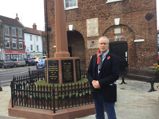 Brendan Devlin in Yarm before Remembrance Sunday